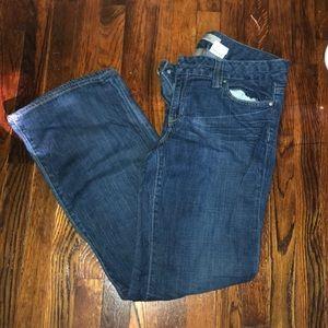 NWOT Gap straight boot cut jeans size 14 regular!